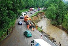 Velká voda napáchala v Bludovicích a v Hodslavicích velké škody, které se budou odstraňovat velice dlouho.