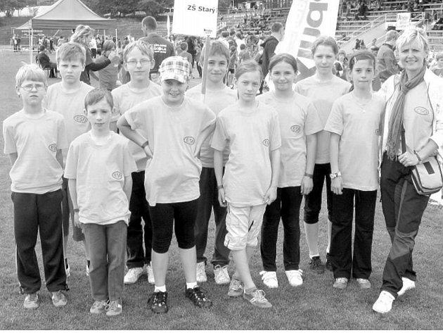 Úspěšná výprava ZŠ Starý Jičín na atletické soutěži Kinderiáda, která se letos konala opět jako finále základních škol v Praze.