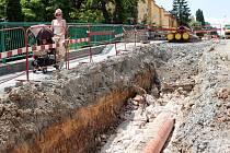 Stavba kanalizace je bohužel provázena prachem, hlukem a pohybem stavebních strojů. Holt, nic není zadarmo. Ilustrační foto.