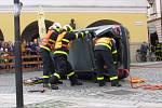 Ukázka práce hasičů.