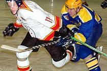 Start krajské hokejové ligy obstaralo derby HC Studénka – HC Kopřivnice. Domácí nakonec vyhráli 3:0. Ilustrační foto.