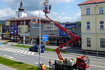 Jednou z frenštátských ulic, kde došlo k výměně osvětlení je Rožnovská.