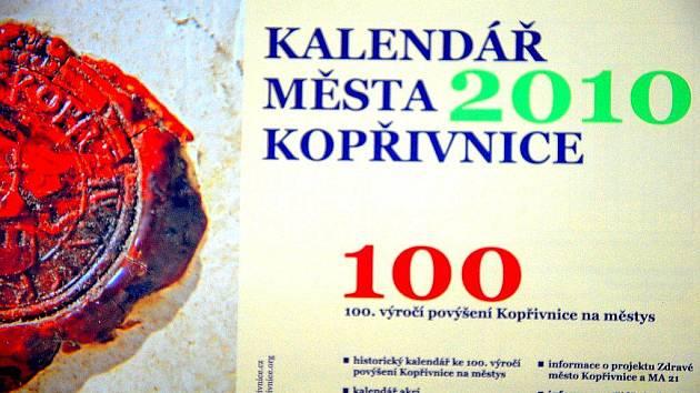 Kalendář na rok 2010 byl věnován výročí města.