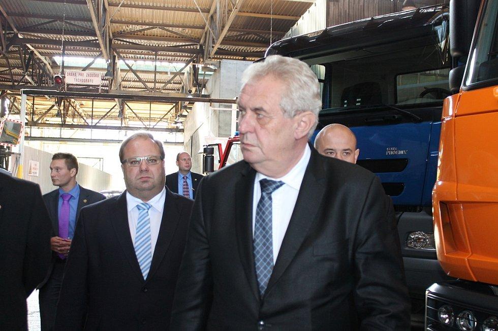 Návštěva prezidenta Miloše Zemana v Kopřivnici