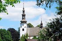 Kostel Nejsvětější Trojice v Suchdolu nad Odrou.