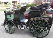 Replika prvního středoevropského automobilu Präsident. Ilustrační foto.