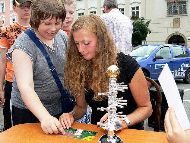 Do svého Fulneku zavítala ve středu osmá tenistka světového žebříčku Petra Kvitová. Zájem o setkání s ní byl velký.