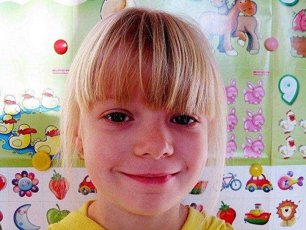 Barbora Pechová, 5 let, Nový Jičín: Těším se, protože se mi tady moc líbí. Jsou tady hračky a můžu si s nima hrát.