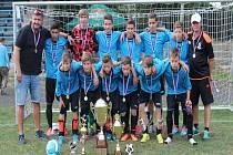 Kopřivničtí žáci si došli suverénně pro prvenství ve 48. ročníku žákovského turnaje a 23. ročníku Memoriálu Oldřicha Halusky ve Studénce.