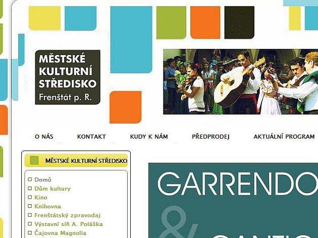 Zcela nové internetové stránky se objevily na takzvané síti sítí. Patří Městskému kulturnímu středisku (MĚKS) Frenštát pod Radhoštěm.