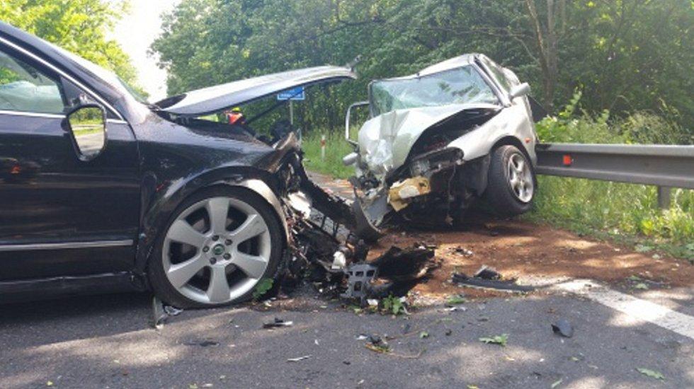 Nehoda v Petřvaldě u Nového Jičína.