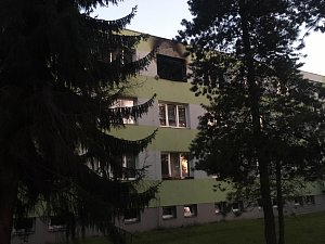 Požár ve Studénce