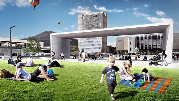 Takto vypadá návrh revitalizace centra Kopřivnice.