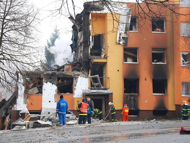 Dům číslo 39 po výbuchu.