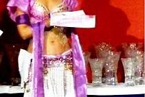 Miroslava Břusková při přebírání ceny za třetí místo ve své kategorii.