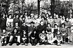 Zaměstnanci podniku ROMO Fulnek, střediska 323 v osmdesátých letech minulého století.