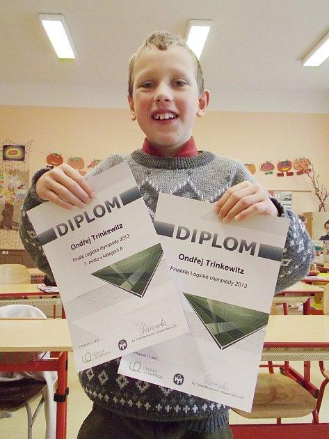 Ikdyž je mu teprve deset let, už nyní je členem Mensy, sdružení nadprůměrně inteligentních lidí. Že je Ondřej Trinkewitz zTiché opravdu výjimečné dítě, dokázal umístěním na logické olympiádě.
