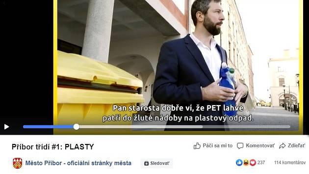 Třídění odpadu v Příboře podpoří videospoty, zahrál si také starosta.