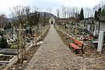 Hřbitov ve Štramberku po revitalizaci, listopad 2020.