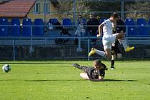 Zápas 10. kola divize F Beskyd Frenštát pod Radhoštěm - MFK Karviná B 1:0.