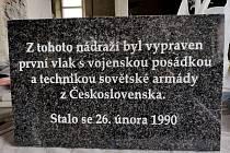 Snámek z dílny Pavla Šouláka, kde vznikla pamětní deska, která bude na budově frenštátského nádraží.
