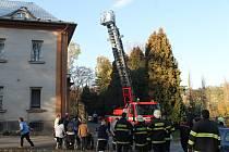 Cvičný požár v bíloveckém domově pro seniory