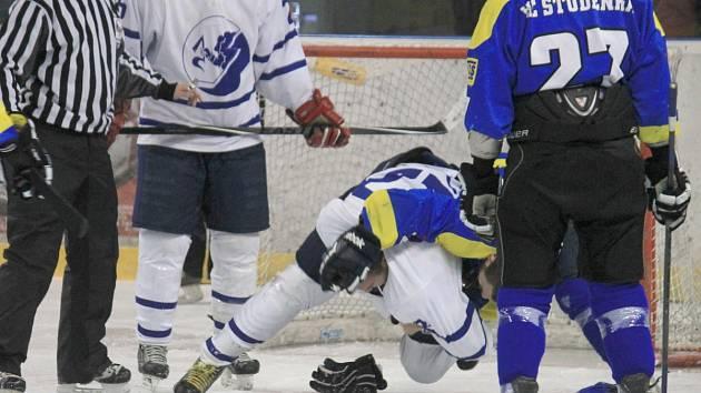 Krajská hokejová liga, 20. kolo HK NOVÝ JIČÍN B – HC STUDÉNKA 5:2 (2:0, 3:0, 0:2)