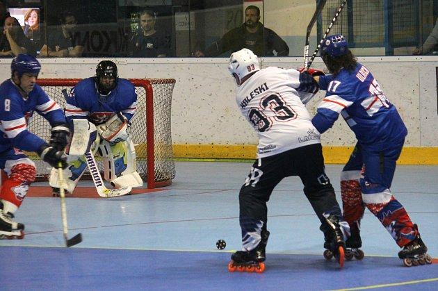 Mistrovství světa veteránů v in-line hokeji. ČR – USA 5:4.