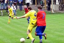 Derby utkání o záchranu v I. A třídě – skupině B mezi FC Libhošť a FC Vlčovice-Mniší, vyznělo lépe pro hostující celek.