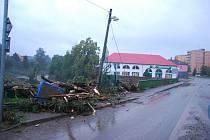 Situace po záplavě v Novém Jičíně