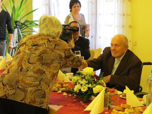 Nejstarší občan Nového Jičína Vilém Kalíšek oslavil 102. narozeniny.