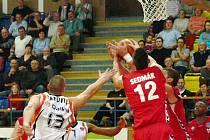 Snímek z utkání Unibon - Brno.