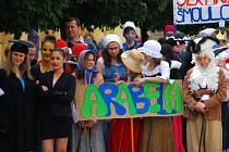 V sobotu 2. června slavilo příborské gymnázium 110. let od svého založení a městem prošel také majálesový průvod.