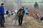 Likvidace náletových dřevin na hrázi Větřkovické přehrady u Kopřivnice