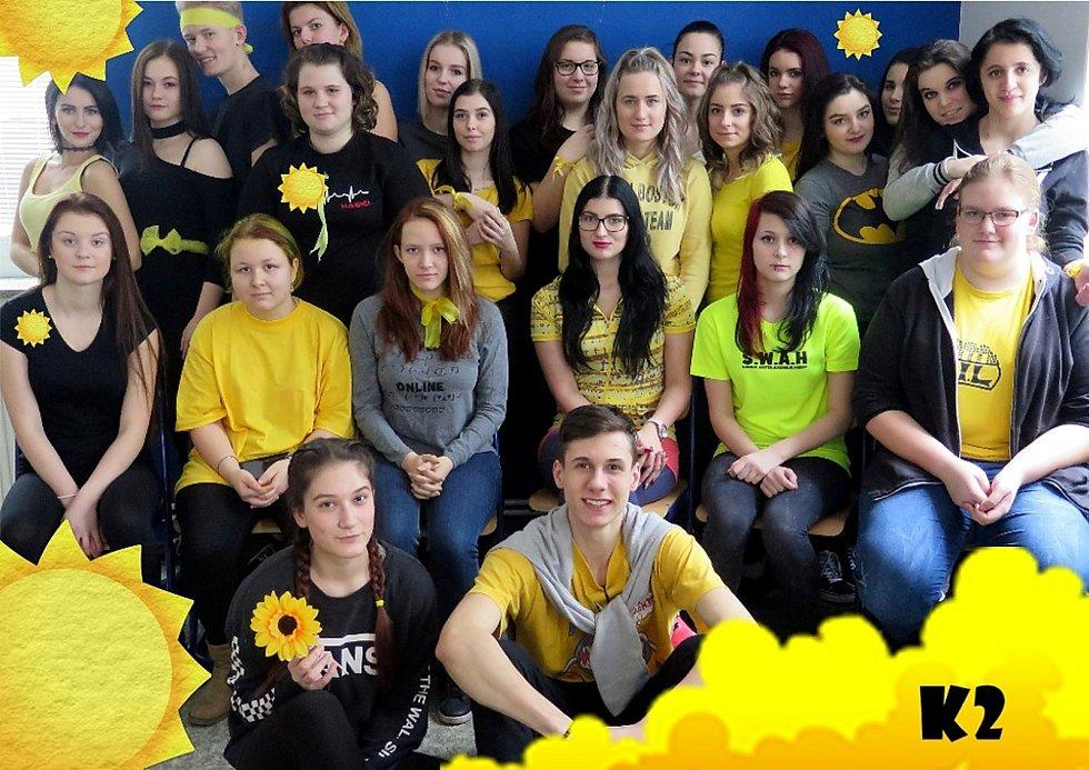Žlutá barva je symbolem oderské střední školy.