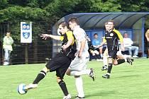 Boj o postup mezi Jakubčovicemi a Českým Těšínem skončil nerozhodně 2:2.