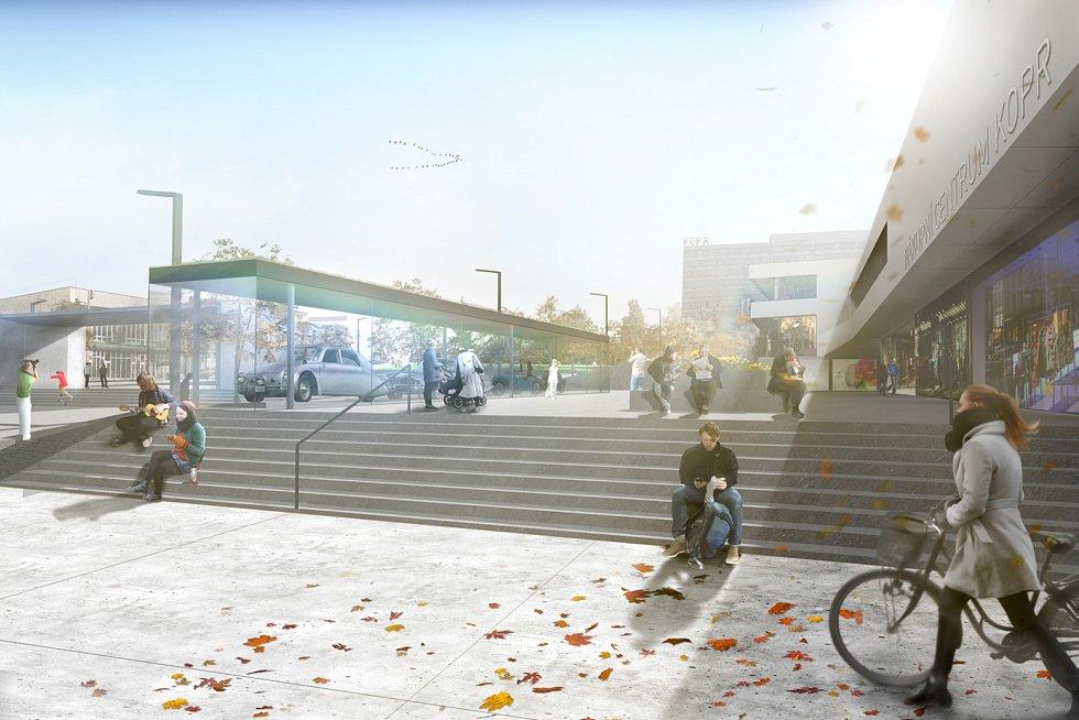 Vizualizace odhaluje budoucí podobu kopřivnického centra.  Zdroj: MÚ Kopřivnice