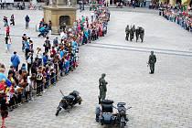 Bitva protektorátních vojáků s Rudou armádou na Masarykově náměstí v Novém Jičíně.