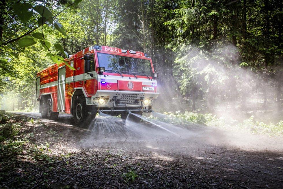 Hasičský vůz od firmy Tatra Trucks. Ilustrační foto.