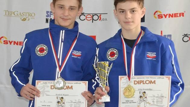 Závišické talenty v podobě Radka Rýpara (vlevo) a Filipa Hanzelky o sobě daly vědět na Českém poháru v Jablonci nad Nisou.