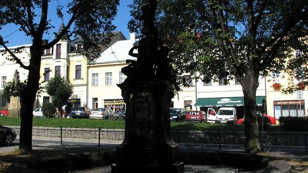 Masarykovo náměstí v Odrách.