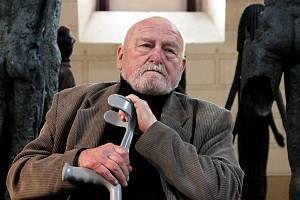 Olbram Zoubek se před pěti lety vrátil do Fulneku, kde zahajoval svou výstavu.