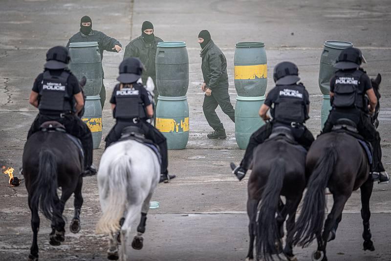 Na letišti v Mošnově na Novojičínsku začaly 18. září 2021 dvoudenní Dny NATO a Dny Vzdušných sil Armády ČR, které jsou největší bezpečnostní přehlídkou v Evropě. Ukázka Městské Policie Ostrava.