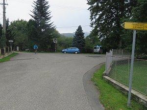 Křižovatka ve Vlčovicích