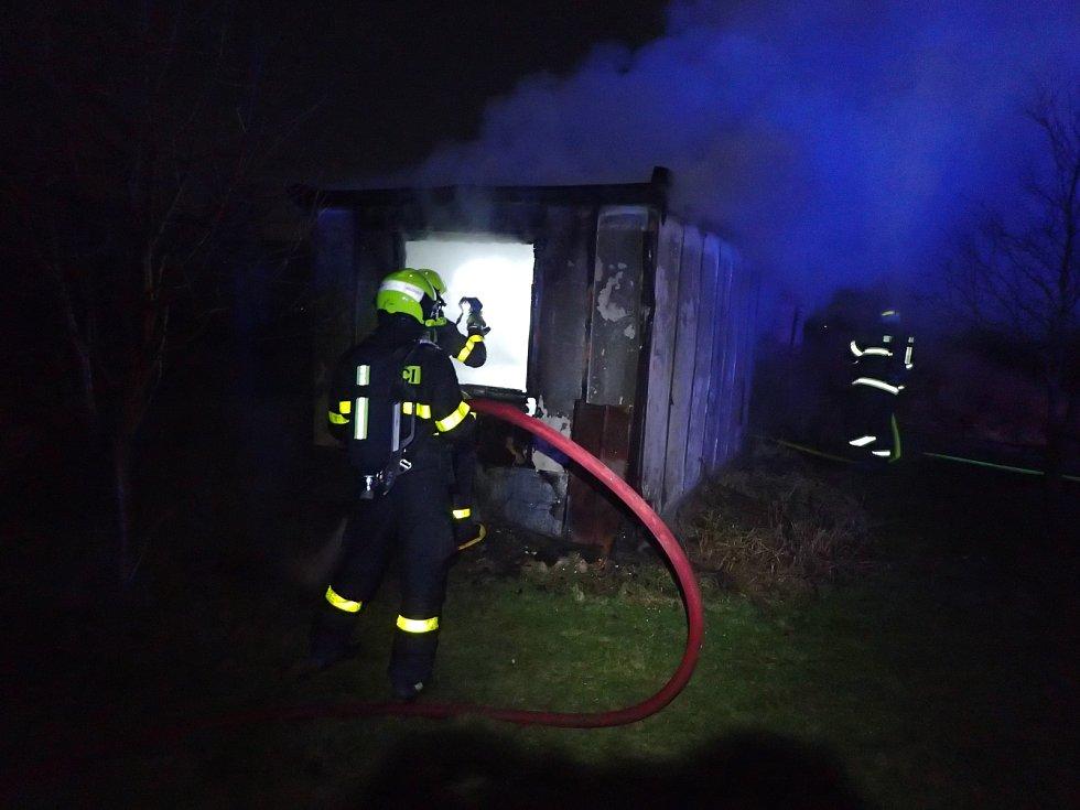 Požár v obci Stachovice na Novojičínsku.