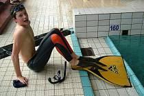 Vítězem trojboje Středoevropského poháru mládeže v plavání s ploutvemi se v kategorii C stal novojičínský Matěj Obšivač.