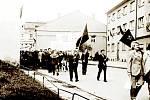 Oslavy 1. máje v roce 1974 ve Fulneku.