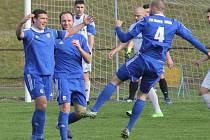 Fotbalisté Nového Jičína na jaře nadále vítězí a sází v průměru čtyři branky na zápas.