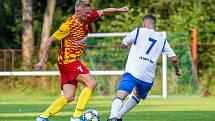 Fotbalové utkání Frýdlant nad Ostravicí - Nový Jičín, 12. září 2020.