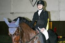 Hlavní soutěž vyhrála nejmladší účastnice Kateřina Kubrická na koni Šejla 1 ze Sportovní stáje Kubrický.